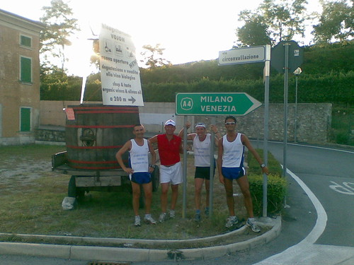 2008-08-26 Allenamento in Bici - incontro con compagni franke