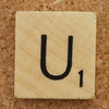 Wood Scrabble Tile U