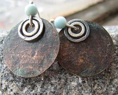 Copper earrings photo by FerosFerio