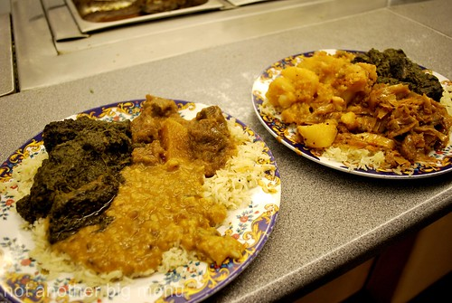This'n'That, Manchester - 2 plates of curry and rice