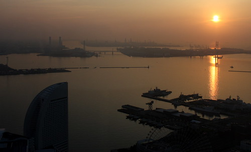 Sunrise over Yokohama