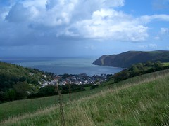 View down to Lynton