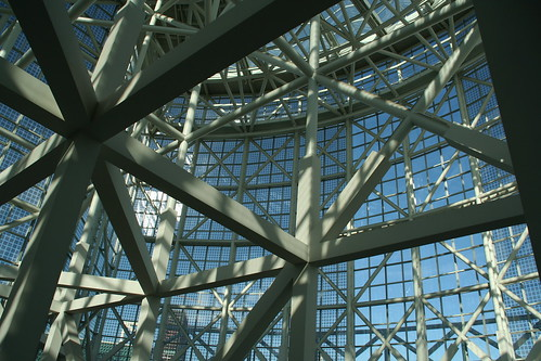 Architectural elements inside the convention center