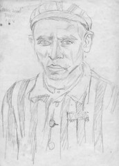 Portrait of Wein Israel, Terezín Concentration Camp, 9 May 1945 photo by Eva-Marie Neumann