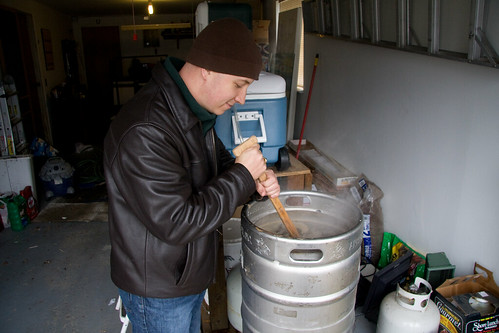 Stiring the wort