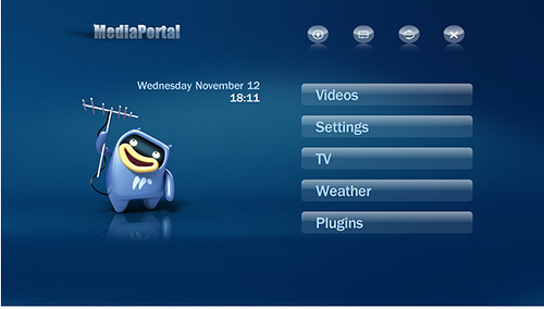 MediaPortal Blue3 Skin Home Page
