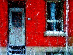 red house - raining photo by Whiny Dancer