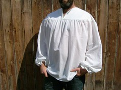 Mens White Jacobite by OHANASEWING on Etsy photo by iowacattails