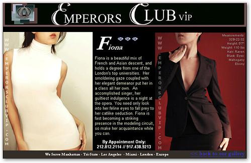 Emperors Club Fiona