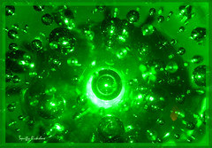 Green colour bubbly glass... Looks like bubbles floating up a bottle!...Flickr Challenge Group photo by Squiffy-Rickshaw...is back !!