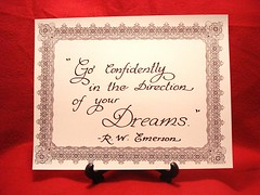 Inspirational Calligraphy Quote ready to frame, size 8 1/2 x11, this is the perfect Christmas present photo by angelliki1