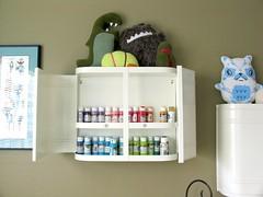 Ikea Medicine Cabinet Acrylic Paint Rainbow Joy! photo by pbrigitte zombuki
