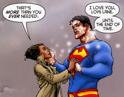 Superman says goodbye to Lois