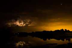 Heat Lightning and Light Pollution photo by Tim Stone