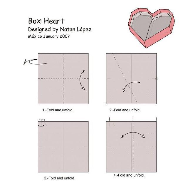 Origami Heart Diagram
