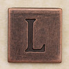 Copper Square Letter L