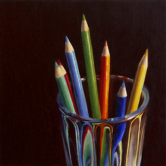 Colored Pencils in Glass photo by nance danforth painting studio