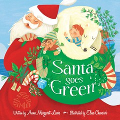 """Santa Goes Green"" - book cover illustration photo by Elisa Chavarri"