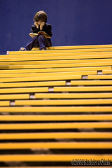 Bored at the game? photo by Halldora Olafs