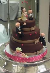chocolate wedding cake photo by karenlindsay24