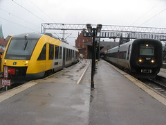 Trains at Helsingor, Denmark