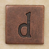 Copper Square Letter d