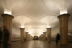 A. N. Dushkin, Ia. G. Likhtenberg, Kropotkinskaia (former Palace of the Soviets) Metro Station, Moscow. Opened in 1935