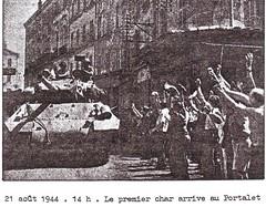 1944- Provence- Hyères - Le 1er Char au Portalet -  La 1ère DFL dans le Var août 1944- Pierre Tropet conservateur du Memorial de Hyères
