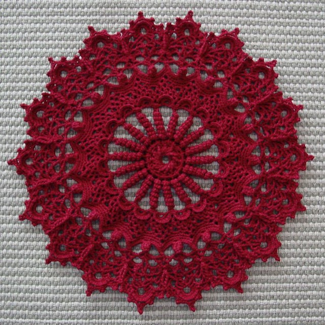 Crocheted Spiral Doily - Tame My Mind Blog