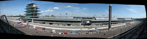 Front straight and paddock panorama view from our seats