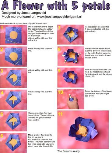 Origami Flower Diagrams