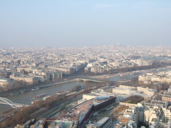 エッフェル塔からの景色(セーヌ河)