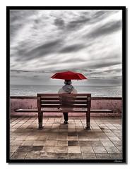 Red umbrella photo by Lucky Thirteenth