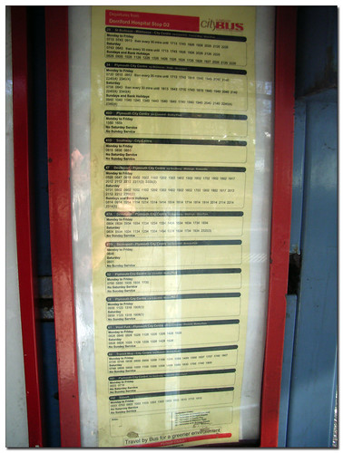 Citybus timetable display