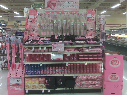On This Display Are Pink Themed Products U2013 Everything From Kitchen Utensils  To Snack Containers, Mops And Tote Bags. This Is The Only Store (local  Grocery ...