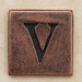 Copper Square Letter V