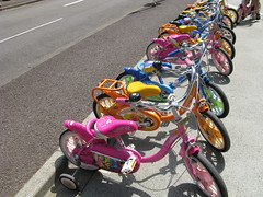 Cute.  Advertising.  Bicycles.  Tokyo.