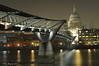 London's Millennium Bridge and St Paul's