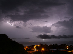 Lightning over the Bay of Trujillo photo by StormyPetrel