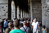 waiting to get into the colosseum