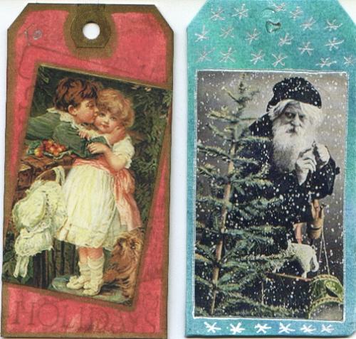 Handmade Xmas tags