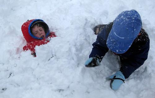 Snow burying