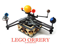 Lego Orrery by V&A Steamworks photo by V&A Steamworks - Guy HImber