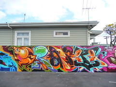 Graffiti in Auckland photo by Joe Ism
