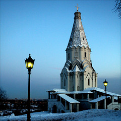 Church of the Ascension, Kolomenskoye in the winter evening photo by JannaPham