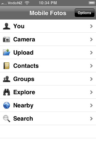 Mobile Photos iPhone app