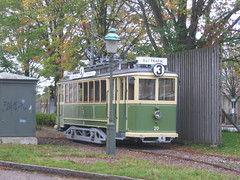 Vintage tram at Malmo transport museum