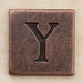 Copper Square Letter Y