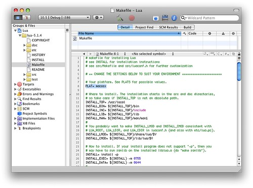 Make changes to the Makefile for OS X