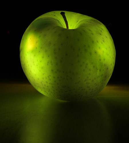 Glowing apple